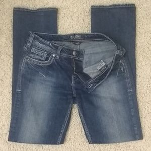 Silver Aiko straight leg jeans med/dark wash